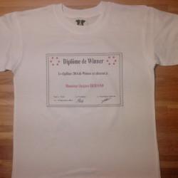 Promo Noël Tshirt « Diplôme de Winner »