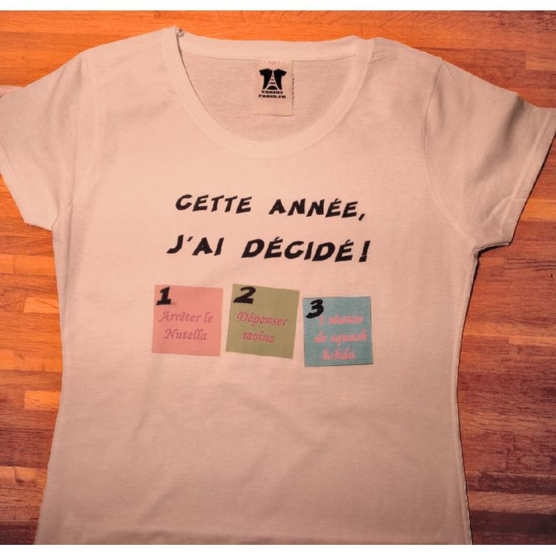 """T-shirt """"Bonnes résolutions du nouvel an"""""""
